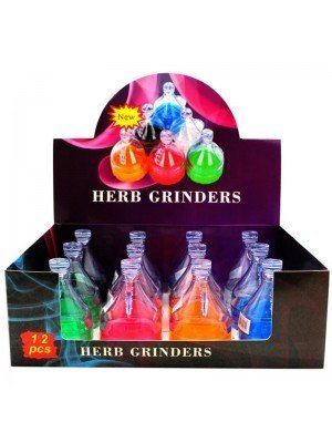 4-Part Acrylic Herb Grinders with Storage Compartment