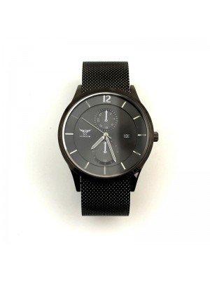 Wholesale NY London Mens Mesh Strap Watch-Gun/Black