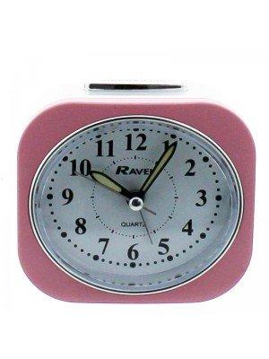 Ravel Quartz Alarm Clock - Pink