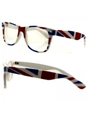 Wholesale Unisex Fashion Glasses- Union Jack Print