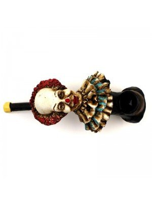 Wooden Smoking Pipe 13cm- Scary Clown