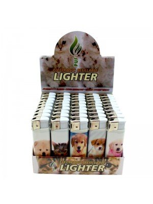 Wholesale PUF Electronic Refillable Lighters - Cute Kittens & Puppies
