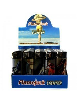 Wholesale Flamejack Electronic Refillable Lighter- Sports Cars(Assorted designs)-(50)