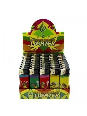 Wholesale PUF Electronic Refillable Lighters - Rastaman