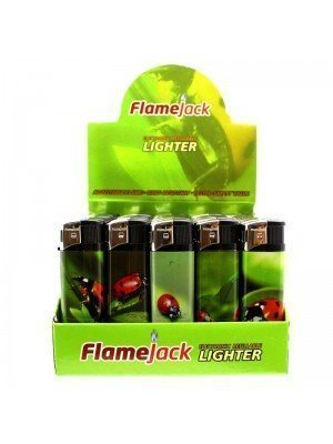 Flamejack Electronic Refillable Lighter- Lady Bug(Assorted designs)-(50)