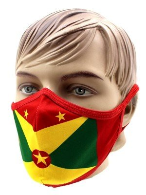 Wholesale Adults Grenada Print Reusable Face Covering Mask