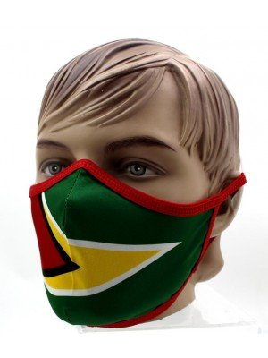 Wholesale Adults Guyana Print Reusable Face Covering Mask