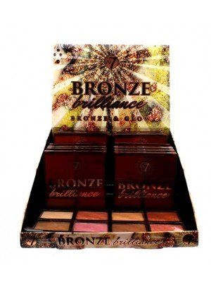 Wholesale W7 Bronze Brilliance Bronze & Glow Complexion Palette Tray