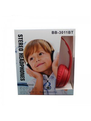Wholesale Base Booster Bluetooth Headphone BB-3011BT - Red