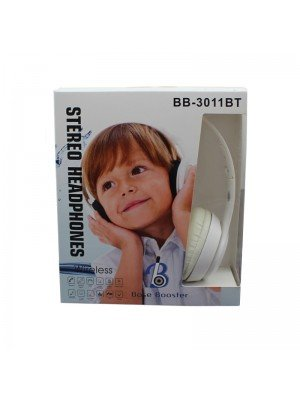 Wholesale Base Booster Bluetooth Headphone BB-3011BT - White