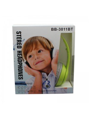 Wholesale Base Booster Bluetooth Headphone BB-3011BT - Green