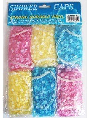 Wholesale Durable Vinyl Shower Caps-Assorted Colours