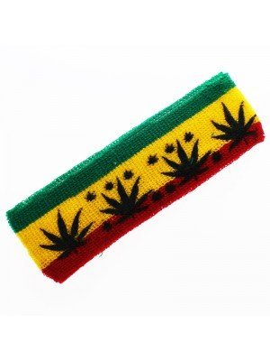 Wholesale Head Sweatbands Multi Leaf Print