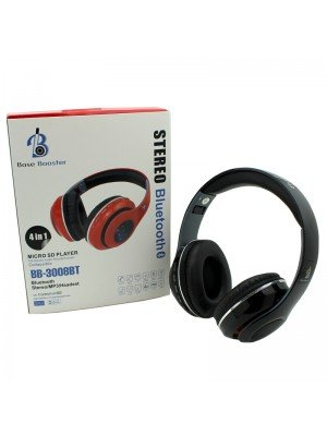 Wholesale Base Booster Bluetooth Headphone BB-3008BT - Black