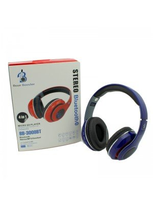 Wholesale Base Booster Bluetooth Headphone BB-3008BT - Blue
