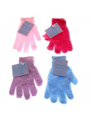 Wholesale Exfoliating Body Gloves - Assorted Colours