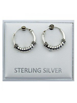 Wholesale Sterling Silver Spiral Earrings - 11mm