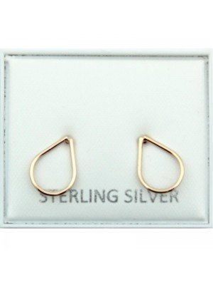 Wholesale Gold Plated Droplet Studs - 11mm