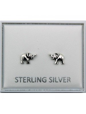 Wholesale Sterling Silver Elephant Earrings - 6mm