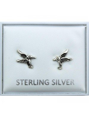 Wholesale Sterling Silver Bird Studs - 10mm