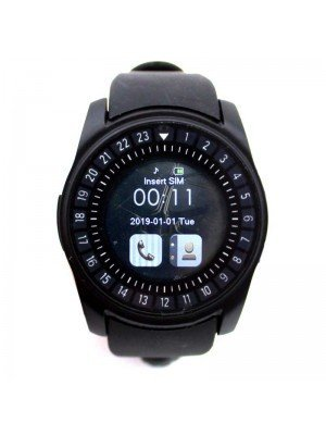 Wholesale Smart Watch with Silicone Strap - Black Bezel