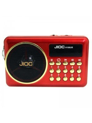 Wholesale JIOC Mini Portable FM Radio Speaker USB Micro SD - (H100UR)
