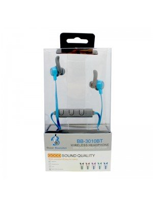 Wholesale Base Booster Bluetooth Headphone BB-3010BT - Blue