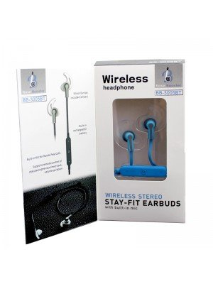 Wholesale Base Booster Bluetooth Earphones BB-3005BT - Blue