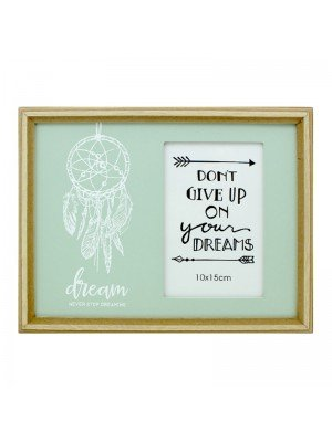 Wholesale Dreamcatcher Photo Frame 'Dont Give Up On Your Dreams' - (10x15cm)