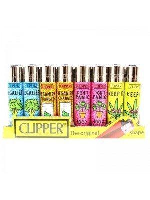 Wholesale Clipper Flint REUSABLE Lighters - Vegan Quotes