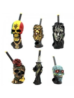 Wholesale Resin Decorative Design Smoking Pipe - Assorted