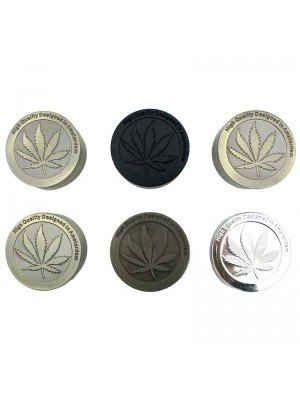 Wholesale 3-Part Metal Grinder Leaf Design - Assorted Colours