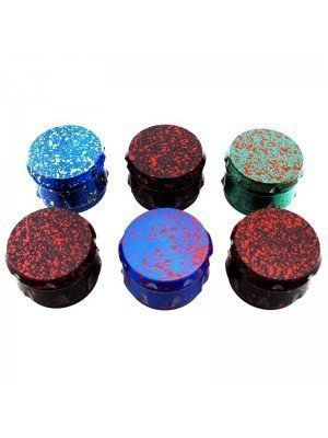 "Wholesale 4-Part Metal Grinder ""Splash Design"" - Assorted Colour"