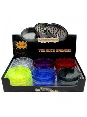 Wholesale 2-Part Acrylic Grinder - Assorted Colours - Tray