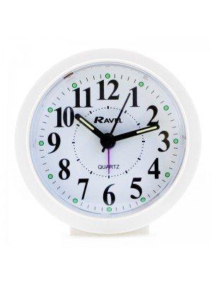 Wholesale Ravel Quartz Round Alarm Clock - White
