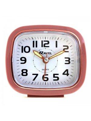 Wholesale Ravel Quartz Alarm Clock with Light - Dusky Pink & Rose Gold