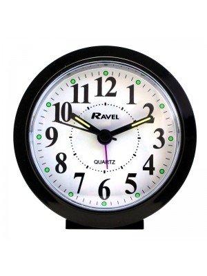 Wholesale Ravel Quartz Round Alarm Clock - Black