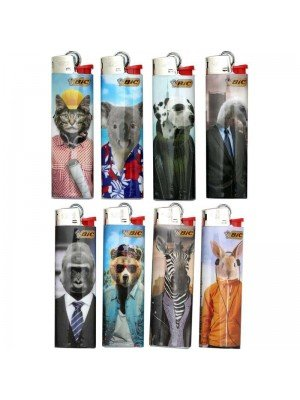 Wholesale BiC Collectable Lighters - Cool Animals - Assorted (x50)