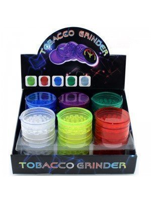 Wholesale 5-Part Plastic Tobacco Herb Grinder