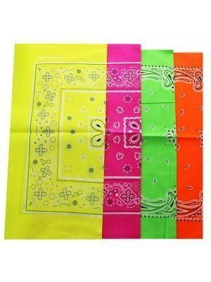 Neon Bandanas- Paisley & Flowers Print Assorted