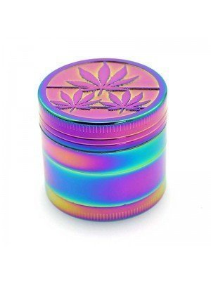 Wholesale 4-Part Metal Grinder Three Leaves - Multicolour