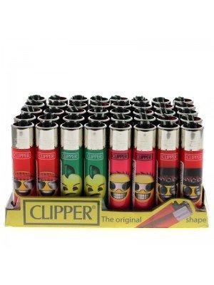 "Clipper Assorted Classic Flint Lighter ""Emoji Rocks"""