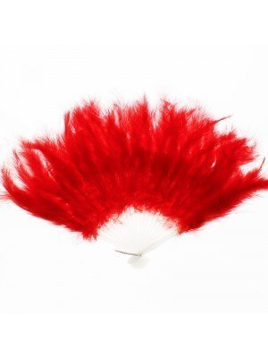 Feather Fans Red
