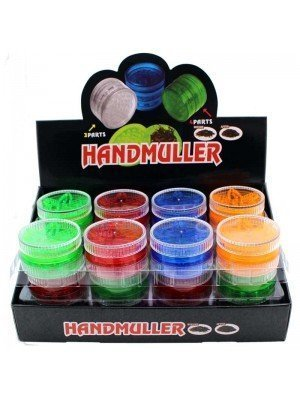 Wholesale 3-Part Plastic Grinders Ball Maze - Assorted Colours
