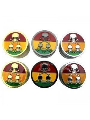 Wholesale 4-Part Metal Grinder - Skull and Crossbones - Assorted