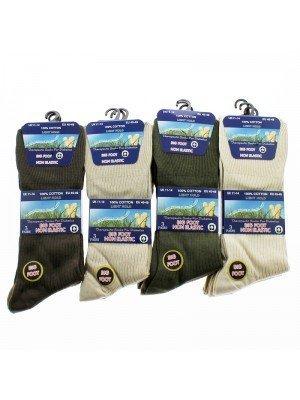 Men's Big Foot Ribbed Socks- Assorted Light Colours