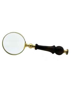Wholesale Gold Magnifying Glass with Wooden Handle - 23 cm