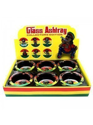 Wholesale Glass Ashtrays - Rasta Collection - Assorted Designs