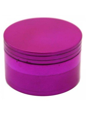 Wholesale 4-Part Metal Grinder - Metallic Fuchsia Colour