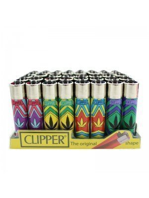 Clipper Flint Lighters - Colourful Leaves Design